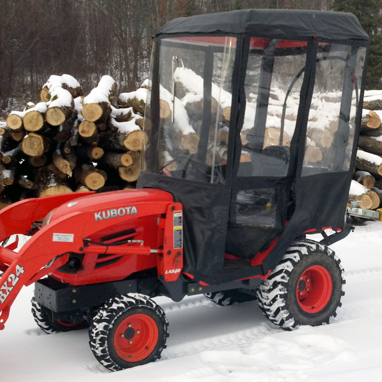 Kubota Bx2360 Accessories : Tractor cab for kubota bx series tractors requires canopy
