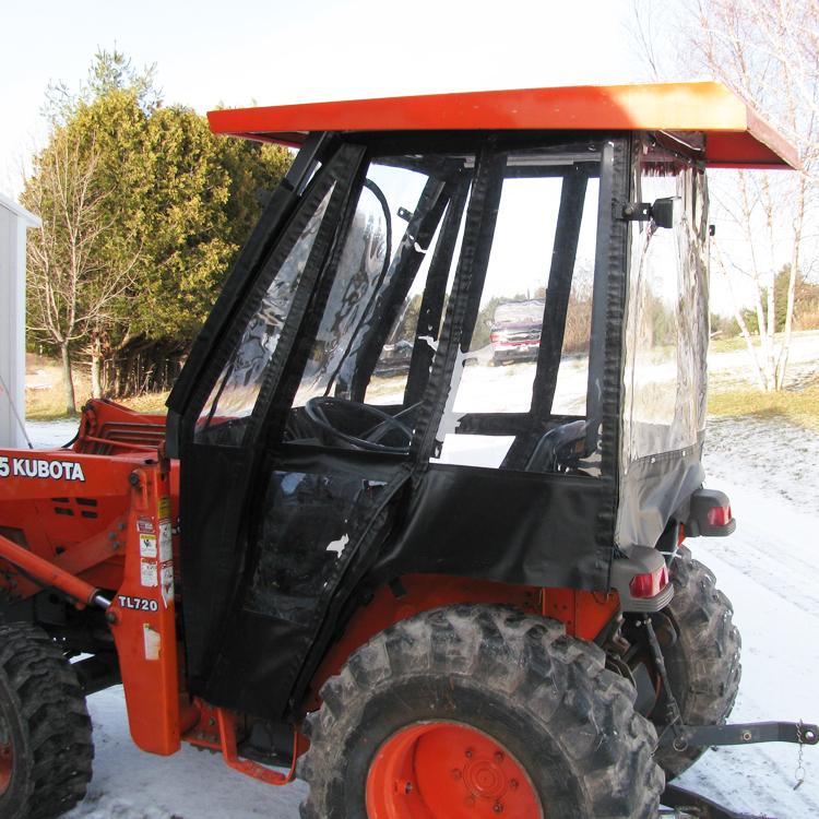 Tractor Cab Enclosure For Kubota L45 Tlb Black