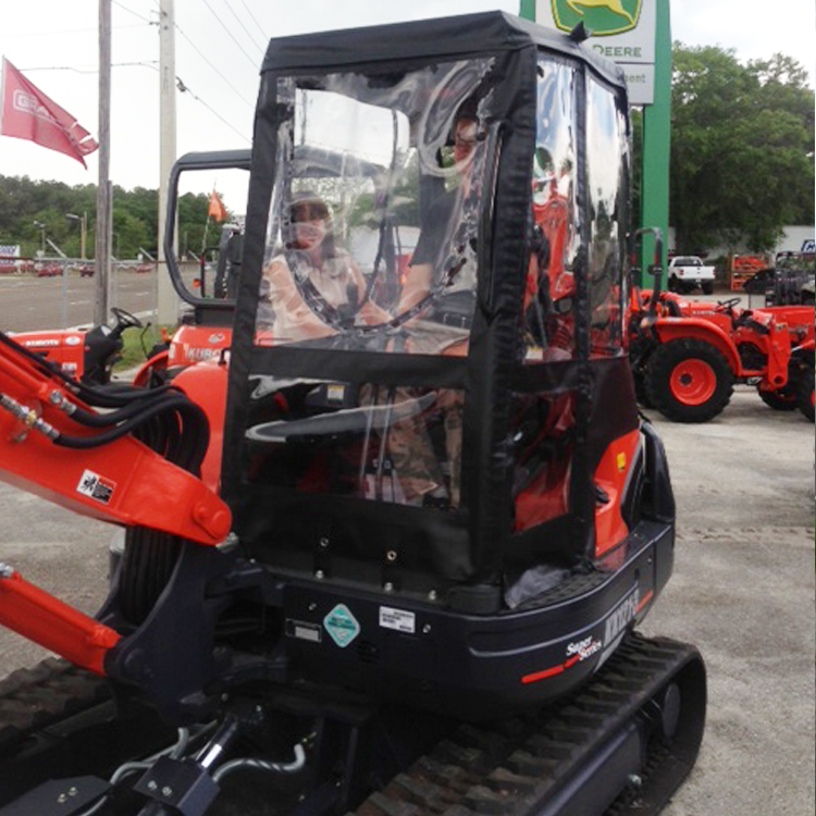 Kubota Lift Cover : Cab enclosure for kubota excavators