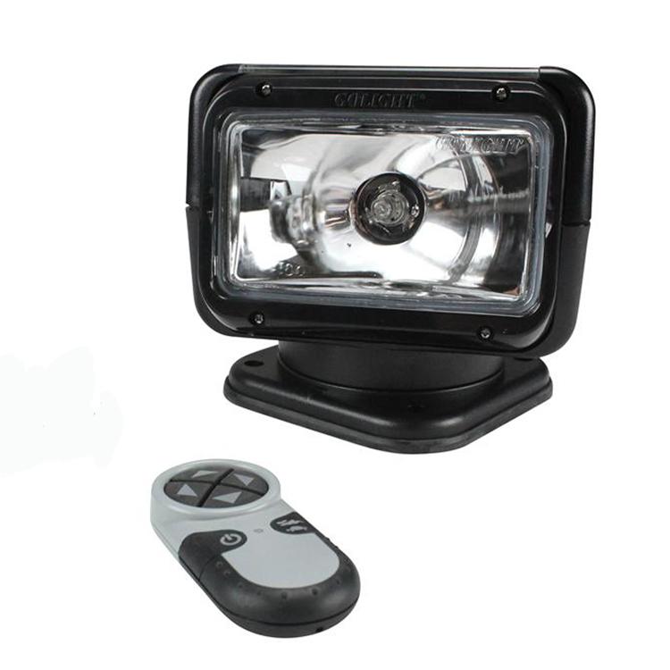 12 volt halogen spot light with wireless remote black. Black Bedroom Furniture Sets. Home Design Ideas
