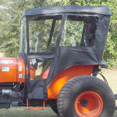 & Tractor Cab Enclosure for Kubota M Series - Requires Canopy
