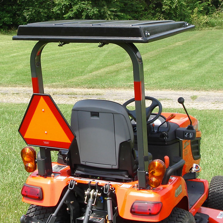 Hardtop ABS Plastic Canopy for Kubota Tractors - Black & Hardtop ABS Plastic Canopy for Kubota Tractors and Mowers - Black