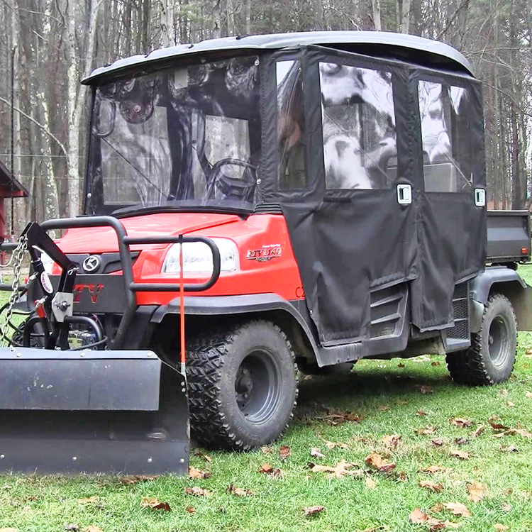 SOFT CAB WITH HINGED DOORS AND LEXAN WINDSHIELD FOR THE KUBOTA RTV1140
