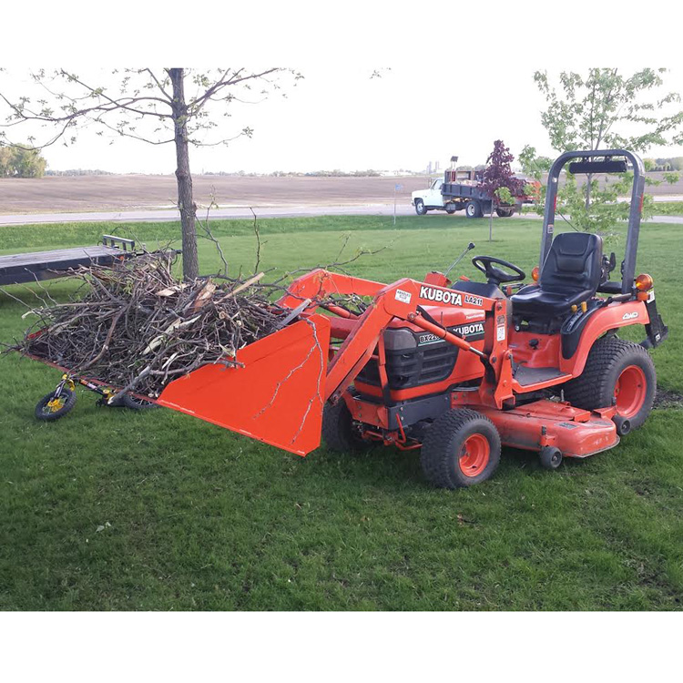 Kubota Tractor Quick Couplers : Quot light material bucket for kubota bx series with