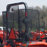 Set of Side Screens for Use with Protective Rear Screen - M Series Tractors