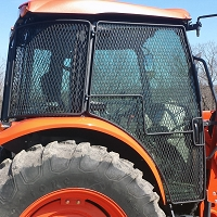 Protective Cage Door Kit for Kubota Deluxe Utility M-Series Cab Tractors