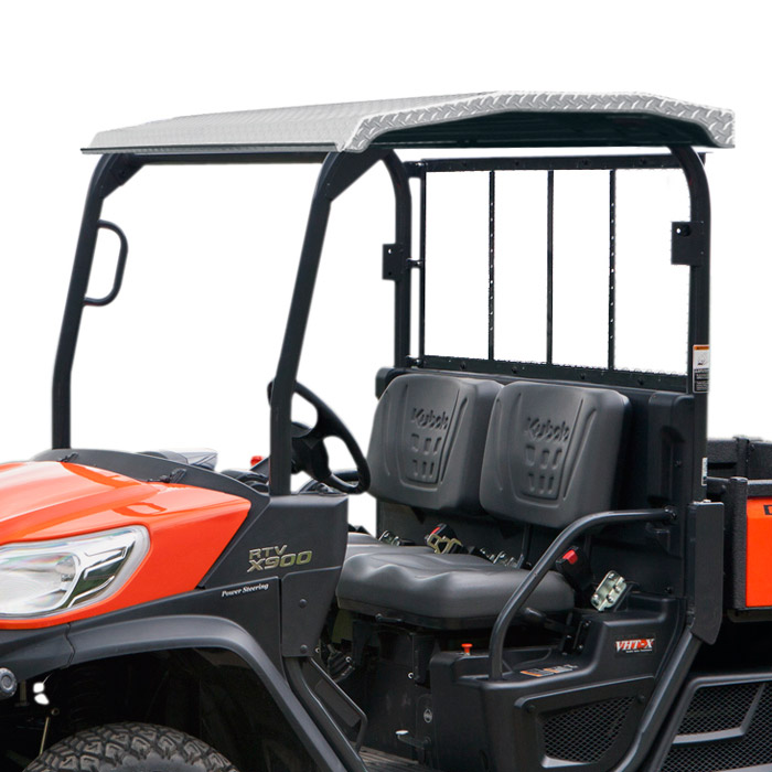 diamond plate aluminum roof for kubota rtv xg850 rtv x900. Black Bedroom Furniture Sets. Home Design Ideas