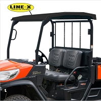 Diamond Plate Roof with Black LINE-X Coating for Kubota RTVX900 & RTVX1120