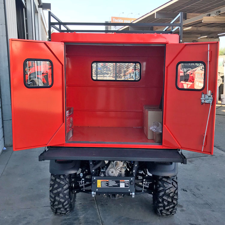 Utility Bed Box With 3 Gull Wing Doors For The Kubota
