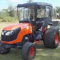 Tractor Cab Enclosure for Kubota M Series Tractors - Requires Canopy