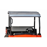 Diamond Plate Aluminum Canopy for RTV900 (Polished Aluminum)