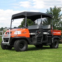 Fabric Sunshade Kit for Kubota RTV1140 - Black
