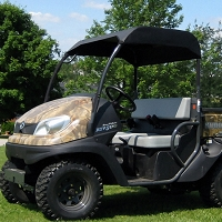 Fabric Sunshade Kit for Kubota RTV400 and RTV500 - Black