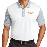 OrangeAftermarket Nike Golf Dri-Fit Colorblock Modern Fit Polo - White/Cool Grey