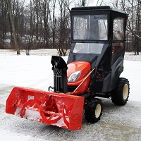 STANDARD CAB WITH HINGED DOORS FOR KUBOTA GR SERIES LAWN TRACTORS
