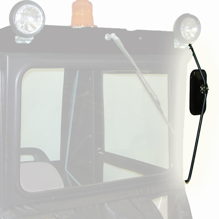 Tractor Side Mirrors : Rear mirror kit for quot original tractor cab hardtop