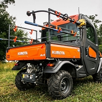 Accessory Rack for Kubota RTV-X Series.  Includes 4 Hooks