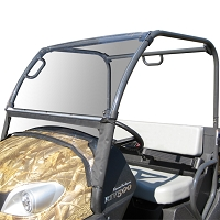 Acrylic Windshield with Fabric Lower Panel for the Kubota RTV400 and RTV500