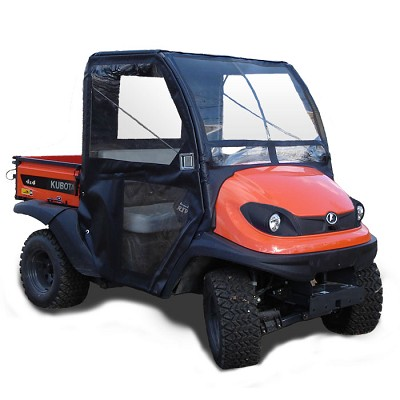 Soft Top Cab Enclosure with Wire Frame Latching Door for Kubota RTV400