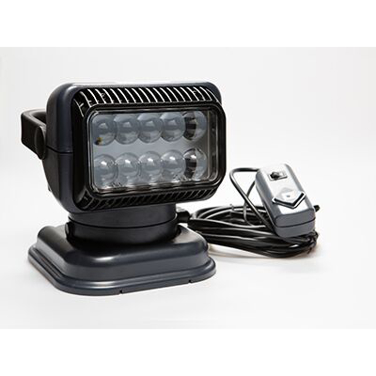 12 volt portable led spot light with wireless remote black. Black Bedroom Furniture Sets. Home Design Ideas