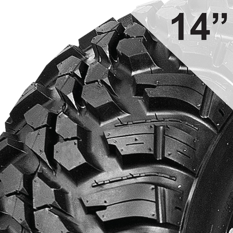 10-Ply Rated Tires for 14 Inch Wheels