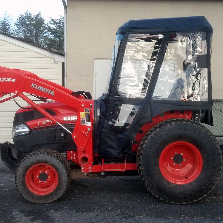 tractor cab for kubota l series tractors requires canopy. Black Bedroom Furniture Sets. Home Design Ideas