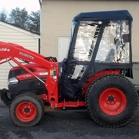 Tractor Cab Enclosure for Kubota L Series Tractors (Requires Canopy)