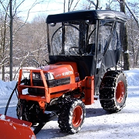 Tractor Cab Enclosure for Kubota B Series (Requires Canopy)