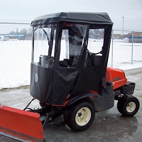 Cab Enclosure for Kubota F Series Mowers (Requires OEM E1133 Plastic Canopy)