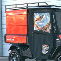 Standard Utility Bed Cap - Rear Double Door/Cabinet Style Doors for the Kubota RTV-X Series