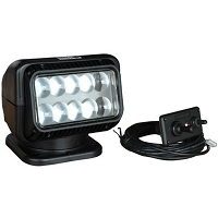 12 Volt LED Spot Light with Dash Mounted Remote - Black