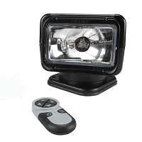 RADIORAY Halogen Spot Light with Wireless Remote -Black