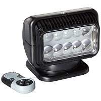 12 Volt LED Spot Light with Wireless Remote - Black