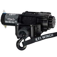 KFI Stealth Series 3500 lb Winch - Synthetic Cable