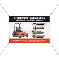 Z700 Mower ROPS Mounted Banner