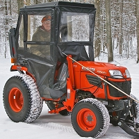Cab Enclosures - Hinged Doors for B Series Tractors