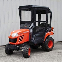 Cab Enclosure - Hinged Doors for Kubota BX1830, 2230, 1500, 1800, 2200