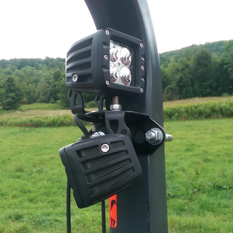 Roll Bar Mounted Light Bracket Pair Fits 2 X 2 3 X 2 Roll Bars