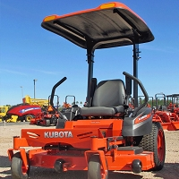 FIBERGLASS CANOPY KIT FOR KUBOTA Z400, Z700 SERIES MOWERS