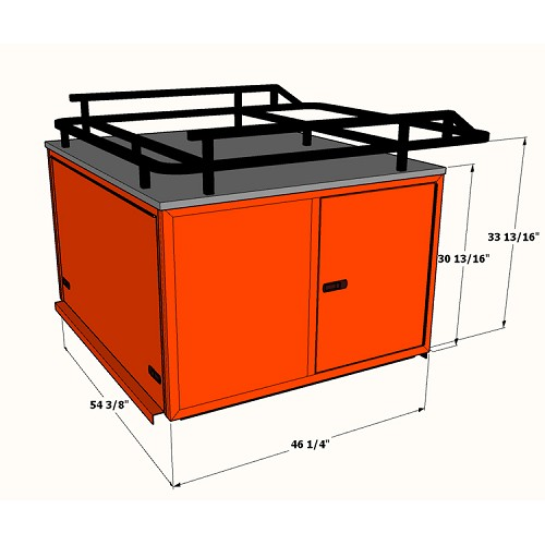 "30"" Utility Bed Cap with Side Access Tool Drawers for RTV900, RTV1100"