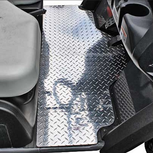 DISCONTINUED - Diamond Plate Aluminum Floor Mats for Kubota RTVX900 & RTVX1120D
