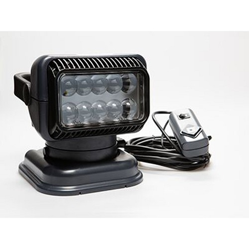 12 Volt Portable LED Spot Light with Wireless Remote - Black
