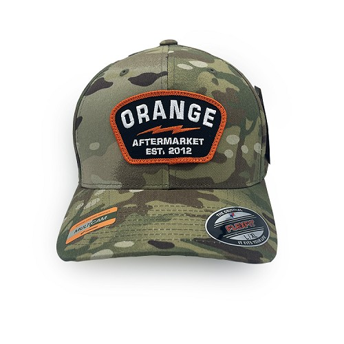 Orange Aftermarket Multicam Flexfit Cap (L/XL)