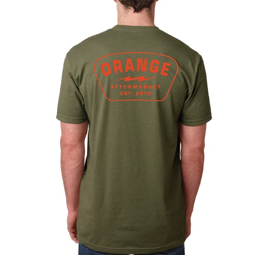 CREW NECK SHIRT - OLIVE GREEN - ORANGE AFTERMARKET