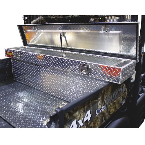 CROSSOVER TOOL BOX FOR KUBOTA RTV900, RTV1100 - ALUMINUM FINISH