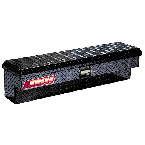 Side Mount Tool Box for the Kubota RTV400 & RTV500  - Powder Coated Diamond Plate Aluminum (Black)