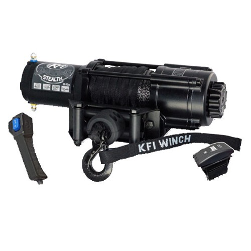 KFI Stealth Series Winch (Wide) - 4,500 lb Synthetic Cable