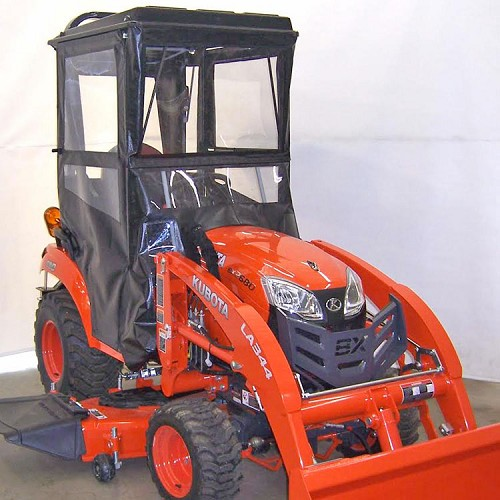 Cab Enclosure (Hardtop - Hinged Doors) for Kubota BX80 Series Tractors
