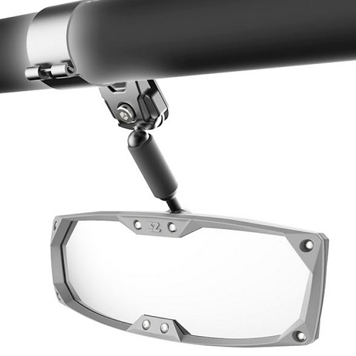 """Halo -R"" Rear View Mirror for Full Size RTV - Fits 2.00"" Roll Bar"