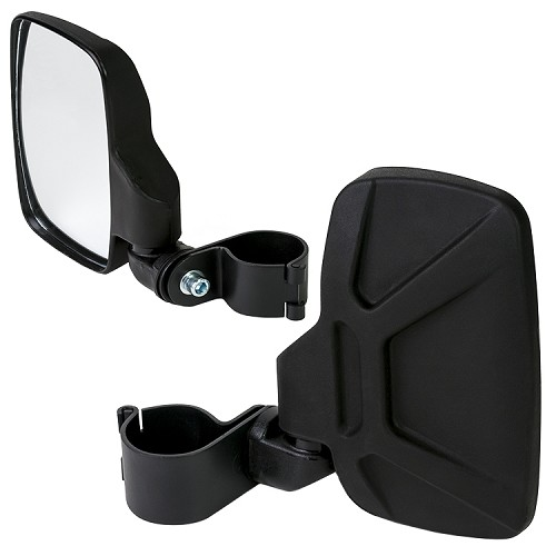 "Side View Mirrors (Pair) for Full Size RTV - Fits 2.00"" Roll Bar"